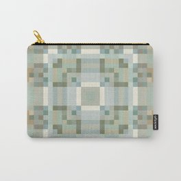 HAVEN soothing earth tones in square geometric pattern Carry-All Pouch