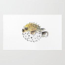 Swim little pufferfish Rug