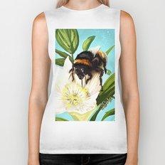 Bee on flower 5 Biker Tank