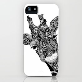 Curious Giraffe iPhone Case