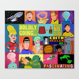 Boldy Going Where No Man Has Gone Before... Canvas Print
