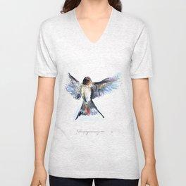 Chilean Swallow Unisex V-Neck