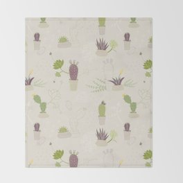 My Potted Cactus Pattern Throw Blanket