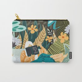 How To Live In The Jungle #illustration #painting Carry-All Pouch