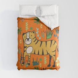 Jungle Tiger Orange Comforters