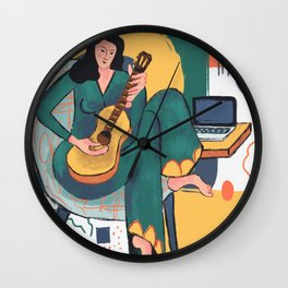 In The Mood For Music Wall Clock