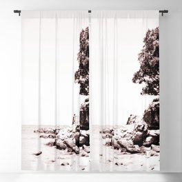 Beach days monochrome Blackout Curtain