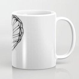 Butterfly Black Ink Drawing Coffee Mug