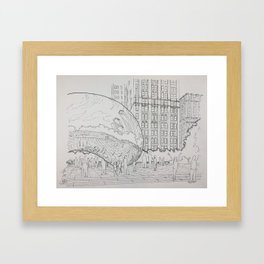 Chicago - Bean Millennium Park Framed Art Print