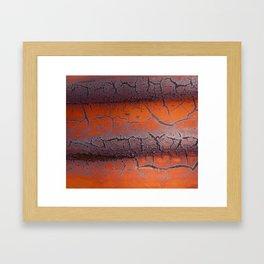 Orange rust Framed Art Print
