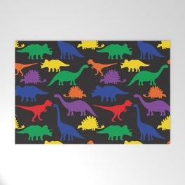 Dinosaurs - Black Welcome Mat