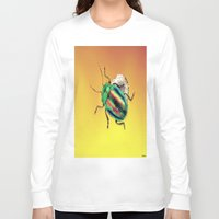beetle Long Sleeve T-shirts featuring Beetle by Ganech joe