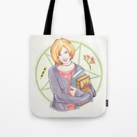 buffy Tote Bags featuring Willow Rosenberg of Buffy by A Rose Cast