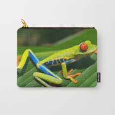 Green Tree Frog Red-Eyed Carry-All Pouch
