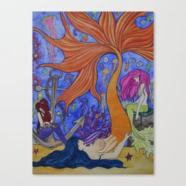 Sirens of the Sea Canvas Print