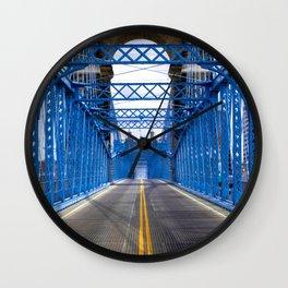Roebling Bridge Cincinnati - KPAK3H Wall Clock