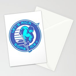 Lets Kick Some Ice pb Stationery Cards