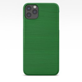 Emerald Green Brush Texture - Solid Color iPhone Case