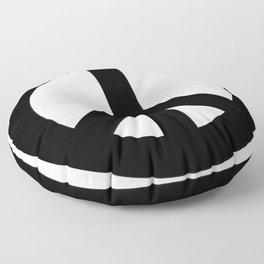 Black on White CND Peace Symbol Floor Pillow