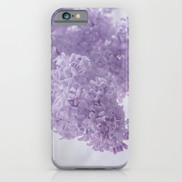 First Love - Pastel Purple Lilac Floral Decor iPhone Case
