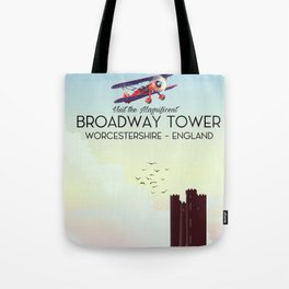 Broadway tower Worcestershire England travel poster. Tote Bag