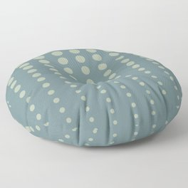 Tropical Blue-Green Reduced Polka Dot Pattern 2021 Color of the Year Aegean Teal Salisbury green Floor Pillow