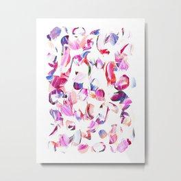 Graffiti Pink and blue Brush stroke pattern Metal Print