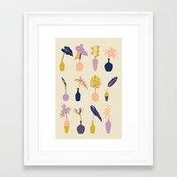 plants Framed Art Prints featuring Plants by Sofia Noceti