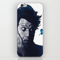 tom waits iPhone & iPod Skins featuring Tom Waits - Blue Valentines by Brad Collins Art & Illustration