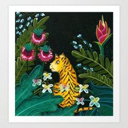Tiger in the jungle Art Print