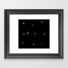 Snowflakes of the night Framed Art Print