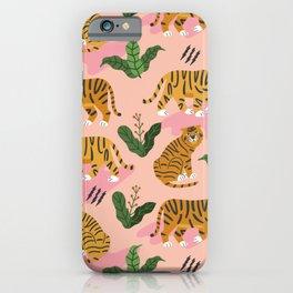Vintage Tiger Print iPhone Case