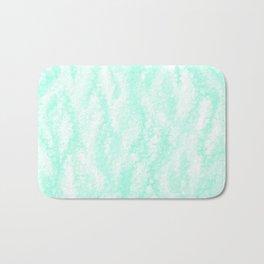 Pastel Mint Waves Bath Mat