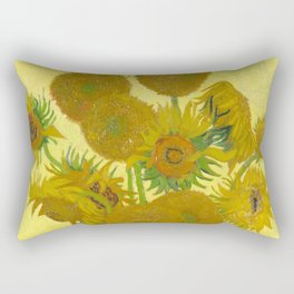"Vincent van Gogh ""Vase with Fourteen Sunflowers"" Rectangular Pillow"
