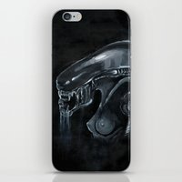 xenomorph iPhone & iPod Skins featuring Mama Xenomorph by Nataliette