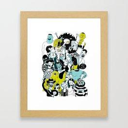 CROWD OF DUDES Framed Art Print
