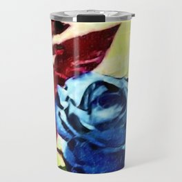 Schönbrunn Palace, Vienna Blue Roses Flower Portrait by Jeanpaul Ferro Travel Mug