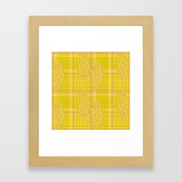 Block Printed Paisley On Plaids Framed Art Print