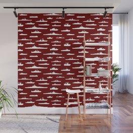 Battleship // Maroon Wall Mural
