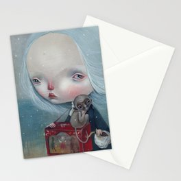 The sea is calm Stationery Cards