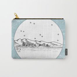 Anchorage, Alaska City Skyline Illustration Drawing Carry-All Pouch