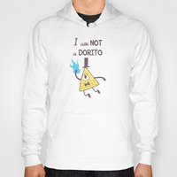 bill cipher Hoodies featuring Bill Cipher Is Not A Dorito  by KasumiBlu