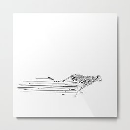 120km/h // (cheetah) Metal Print