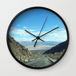 Mountain Road in Palm Springs California Wall Clock