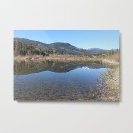 Reflecting Stillness Metal Print
