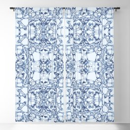 Blue Bandana Blackout Curtain