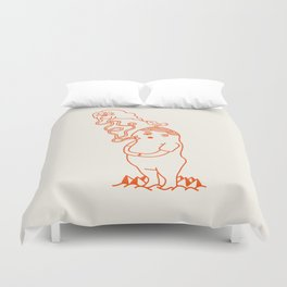 Your Little Cloudy Ghost (With Staches) Duvet Cover