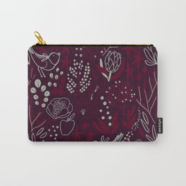 Burgundian winter holiday mood. Carry-All Pouch