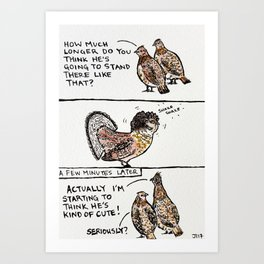 Bird no. 16: Shake shake Art Print