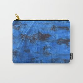 Bright navy blue abstract watercolor Carry-All Pouch